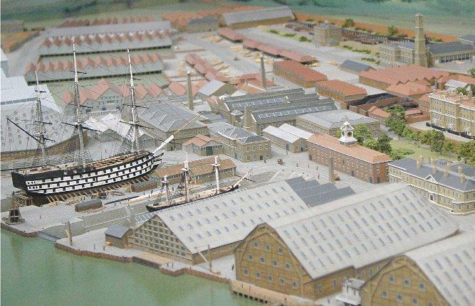 Model of the Chatham Dockyard - 1850s