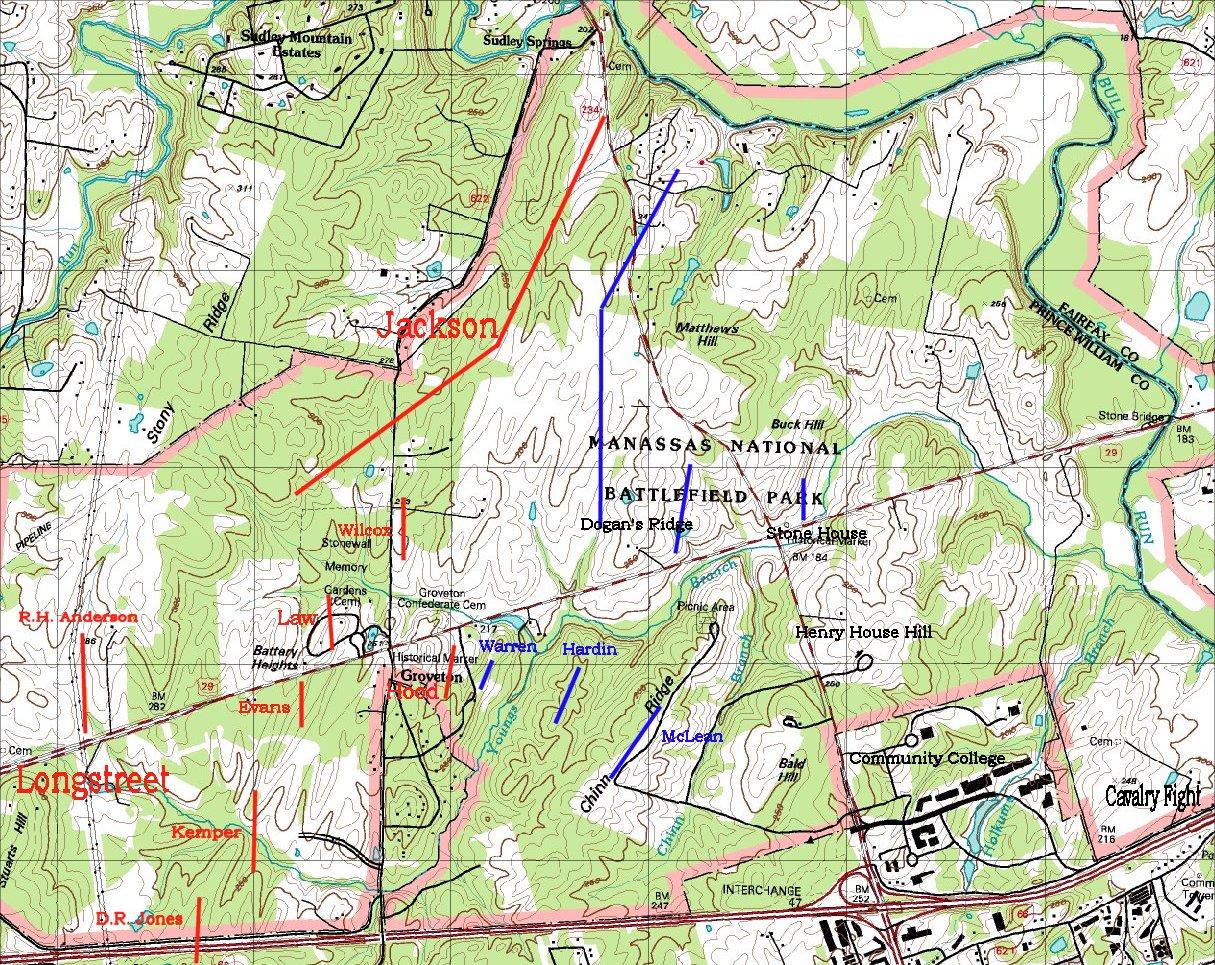 Second Battle Of Bull Run Map
